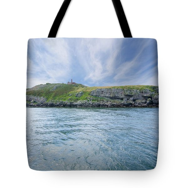 Puffin Island Tote Bag by Steev Stamford