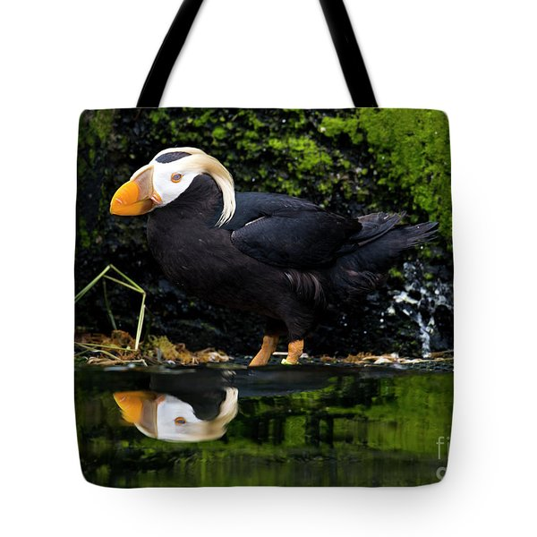 Puffin Reflected Tote Bag