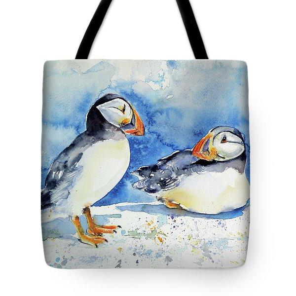Puffins Tote Bag by Kovacs Anna Brigitta