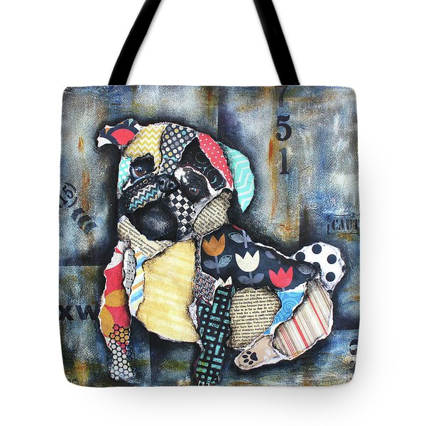 Pug Tote Bag by Patricia Lintner