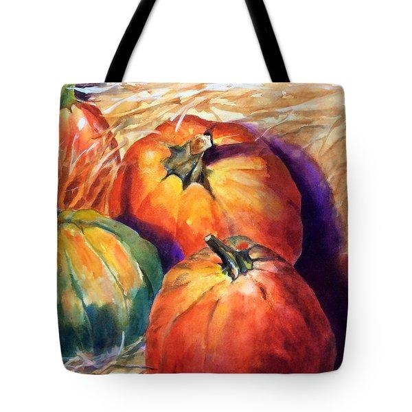 Pumpkins In Barn Tote Bag