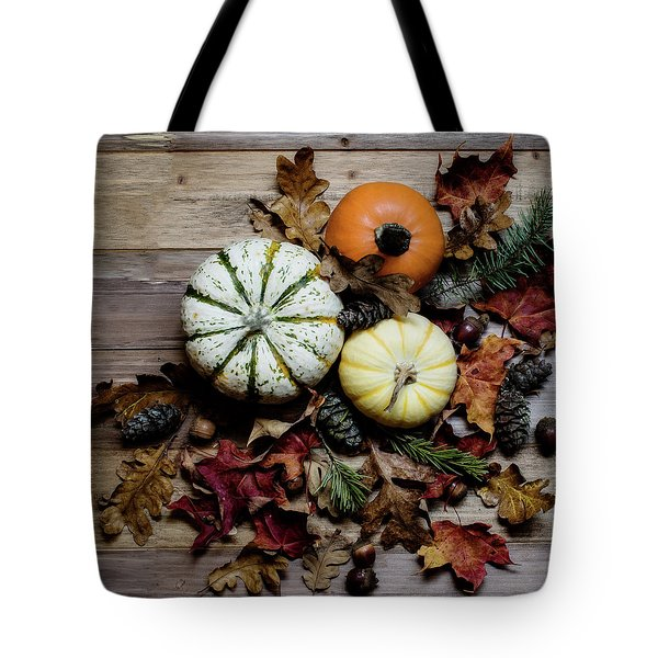 Tote Bag featuring the photograph Pumpkins by Rebecca Cozart