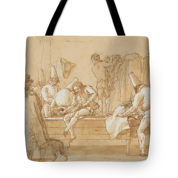 Punchinello As Tailor's Assistant Tote Bag