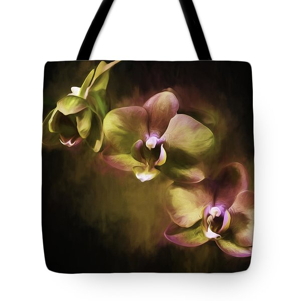 Tote Bag featuring the digital art Purple And Gold by Ken Frischkorn