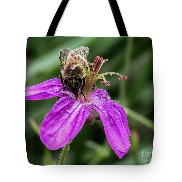 Purple Flower 3 Tote Bag