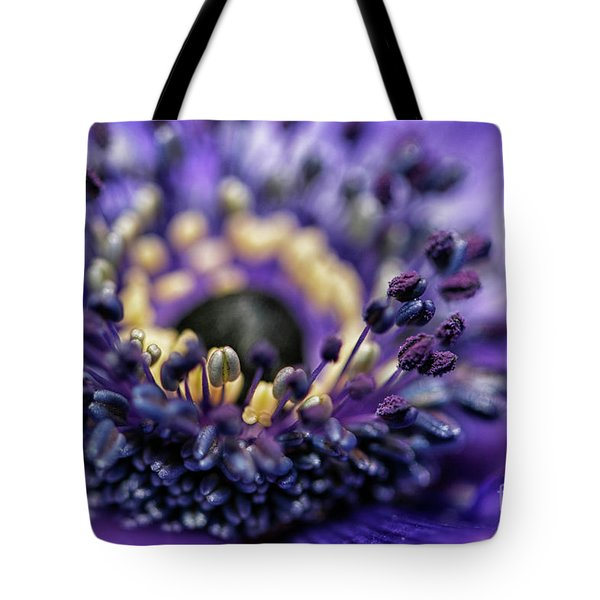 Purple Heart Of A Flower Tote Bag