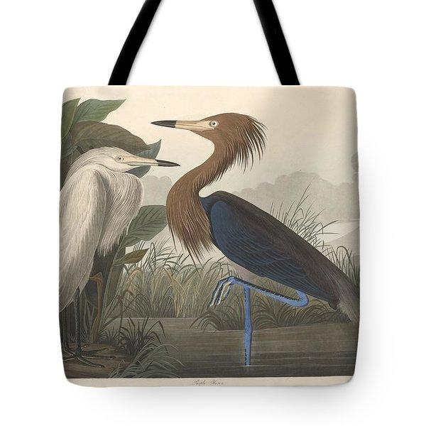 Purple Heron Tote Bag