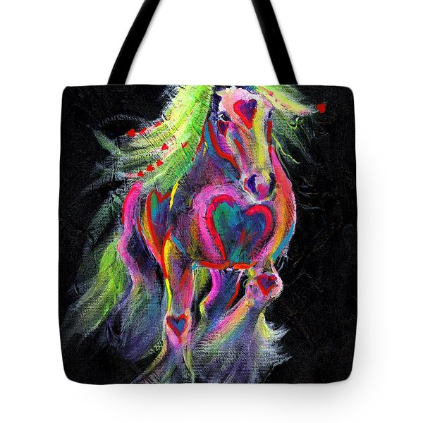 Queen Of Hearts Pony  Tote Bag by Louise Green