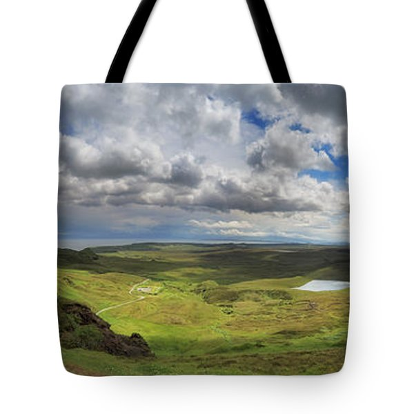 Quiraing And Trotternish - Panorama Tote Bag