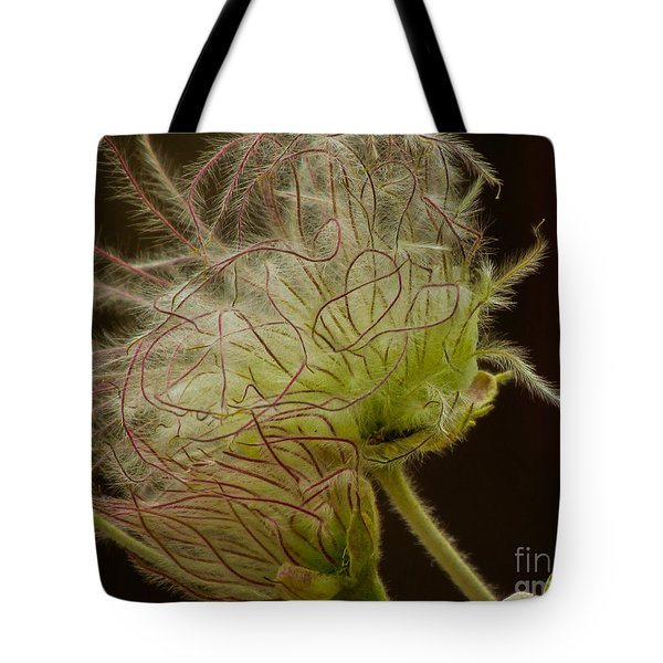 Quirky Red Squiggly Flower 3 Tote Bag