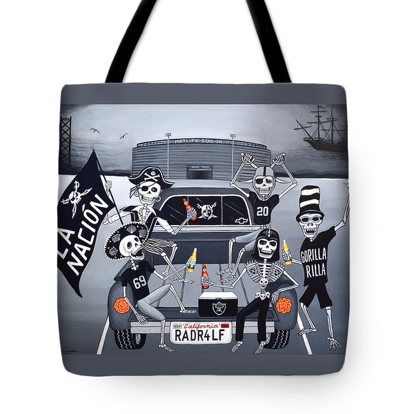 Tote Bag featuring the painting Radr4lf by Evangelina Portillo