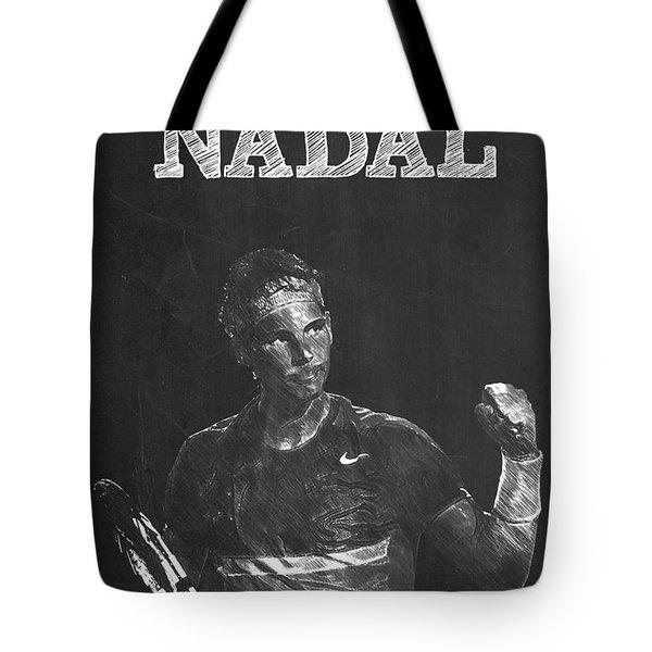 Rafael Nadal Tote Bag by Semih Yurdabak