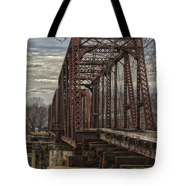 Rail Bridge Tote Bag