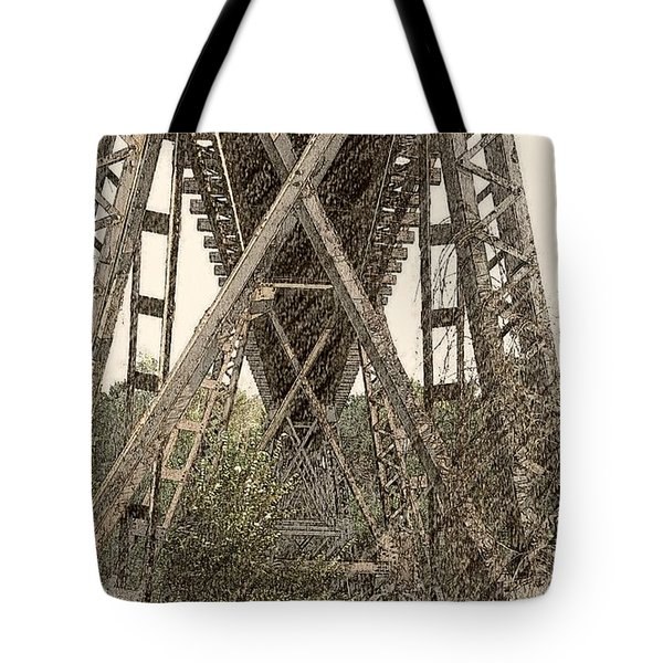Railroad Tressel Tote Bag