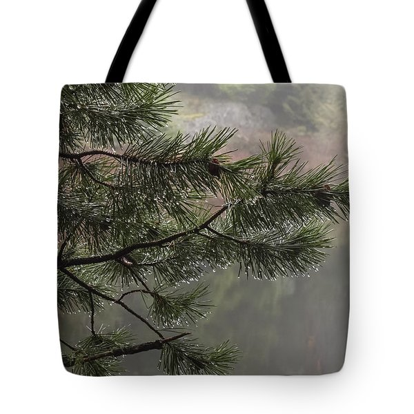Rain Drops Tote Bag by Inge Riis McDonald