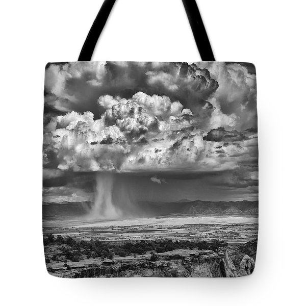 Tote Bag featuring the photograph Rain Over Fruita Colorado by ELDavis Photography
