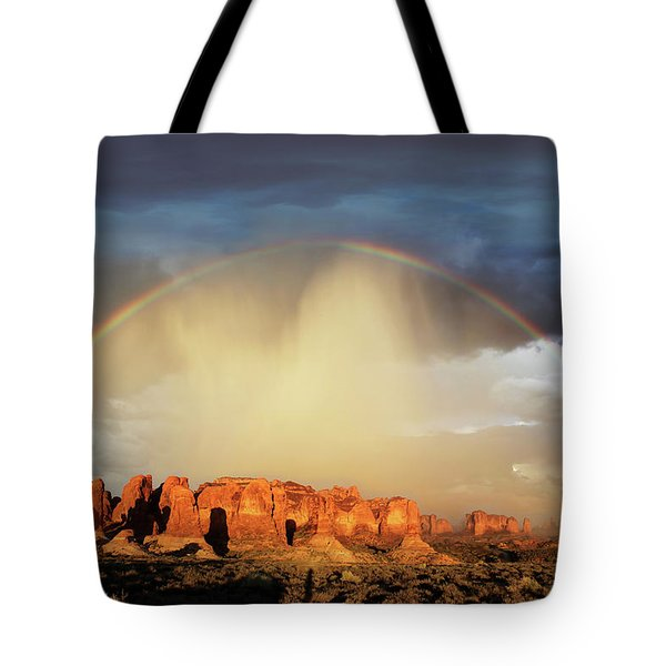 Rainbow Over Garden Of Eden Tote Bag