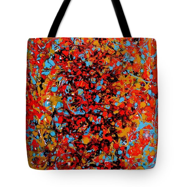 Tote Bag featuring the painting Raindance 1 by Irene Hurdle