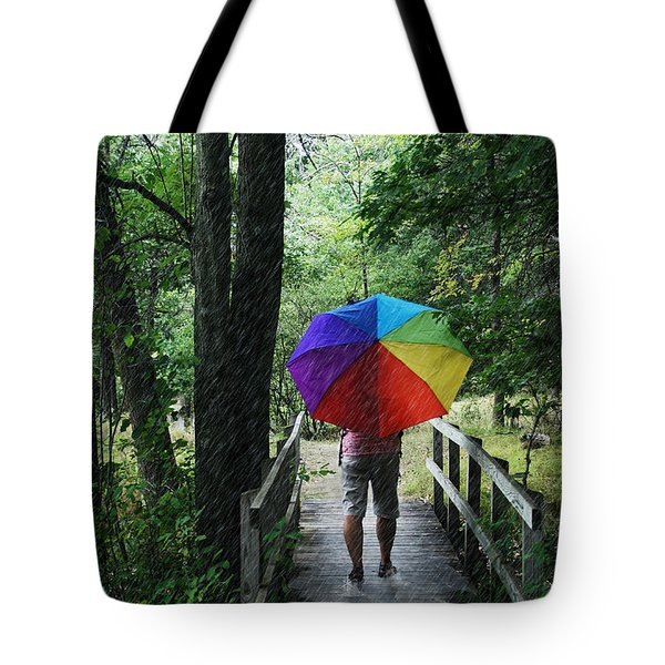 Tote Bag featuring the photograph Rainy Day by Judy  Johnson