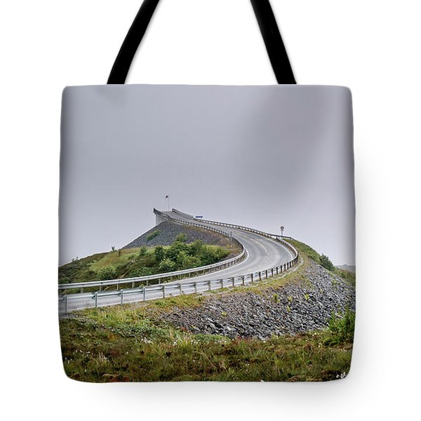 Tote Bag featuring the photograph Rainy Day On Atlantic Road by Dmytro Korol