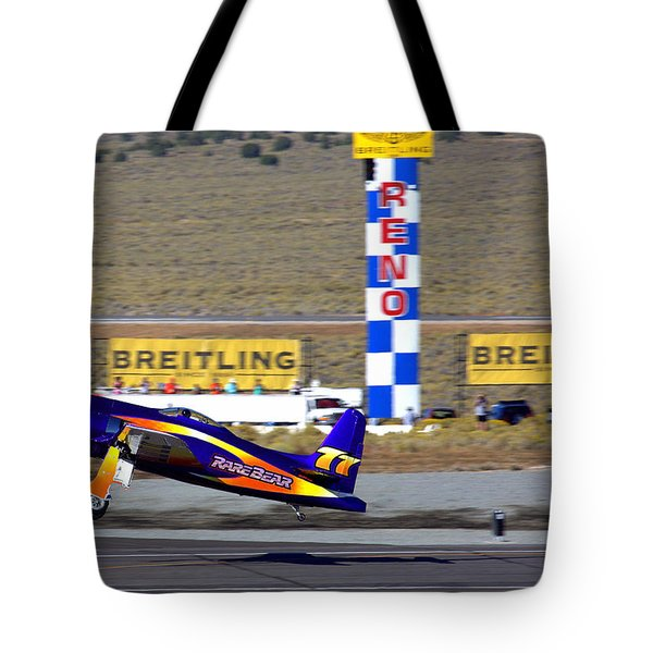 Rare Bear Take-off Sunday's Unlimited Gold Race Tote Bag