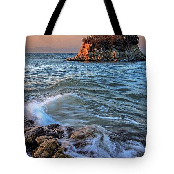 Rat Rock Island  Tote Bag