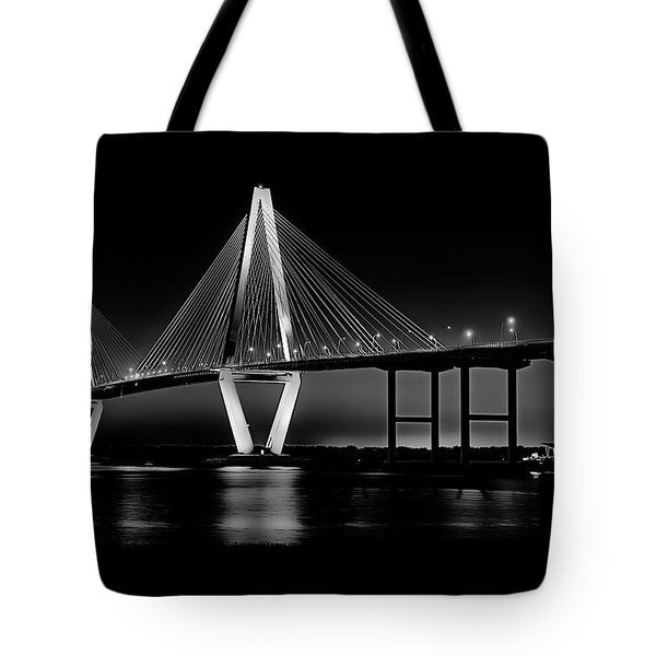 Tote Bag featuring the photograph Ravenel Bridge by Bill Barber