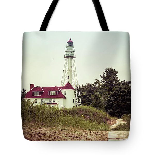 Tote Bag featuring the photograph Rawley Point Lighthouse by Joel Witmeyer