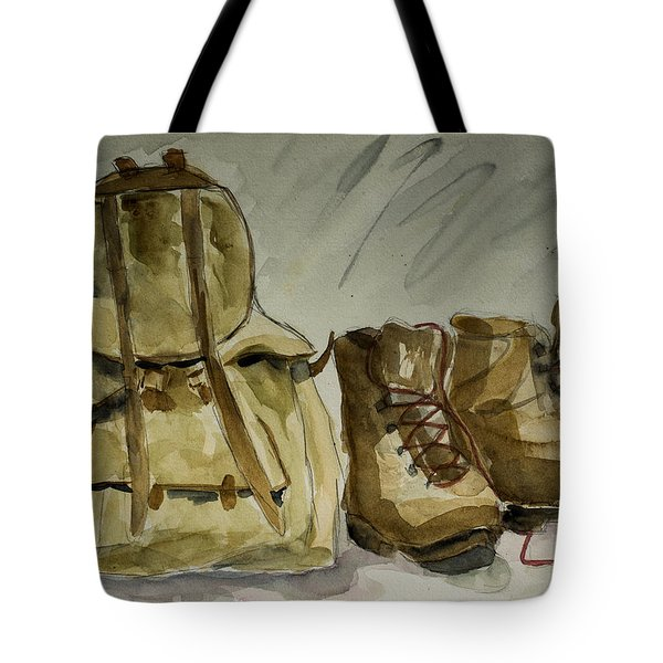 Back From Hiking Tote Bag by Elise Palmigiani