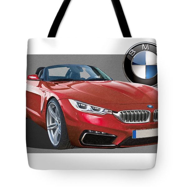 Red 2018 B M W  Z 5 With 3 D Badge  Tote Bag