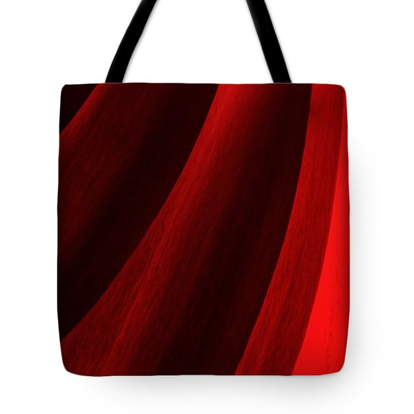 Red Chrysanthemum Dawn Rising Tote Bag