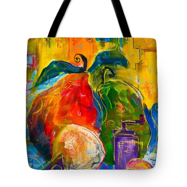 Red And Green Pears Tote Bag