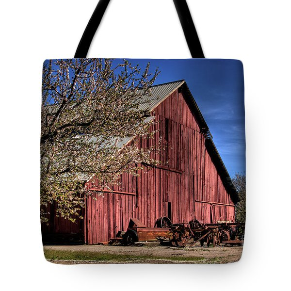 Tote Bag featuring the photograph Red Barn by Jim and Emily Bush