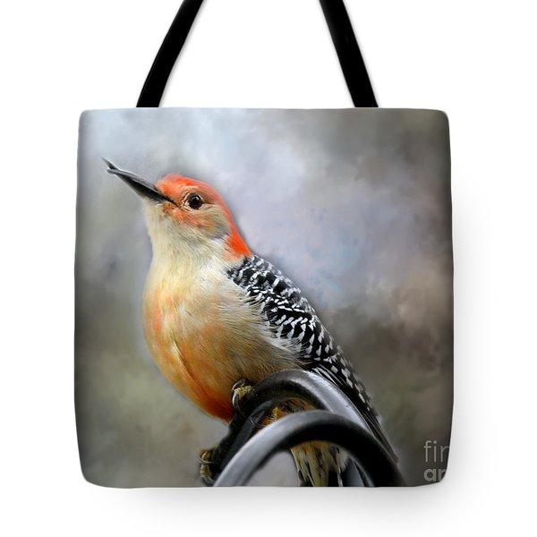Red-bellied Woodpecker Tote Bag by Brenda Bostic