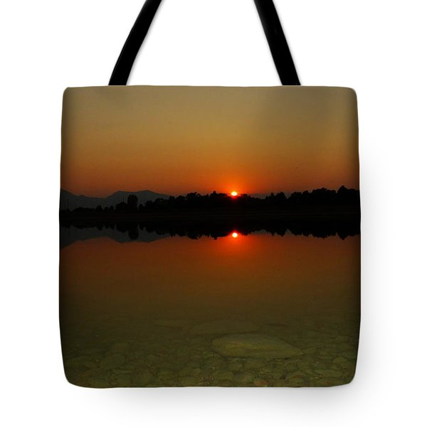 Tote Bag featuring the photograph Red Dawn by Eric Dee