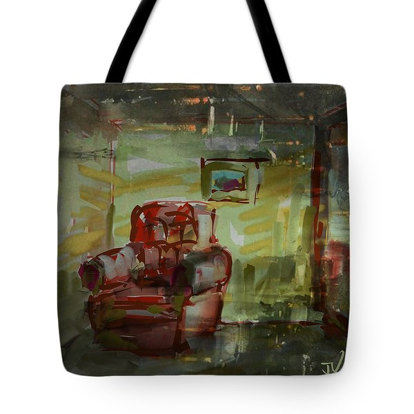 Tote Bag featuring the digital art Red Easy by Jim Vance