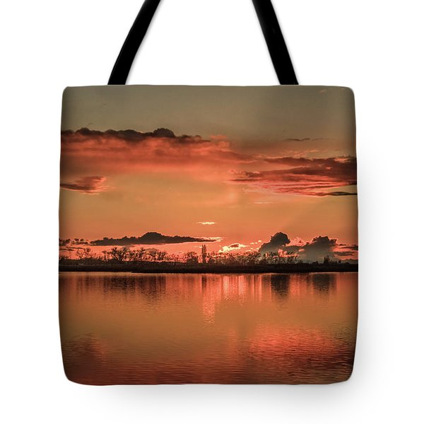 Red Glow Tote Bag by Robert Bales