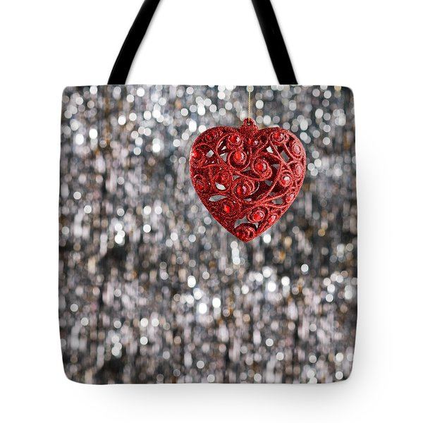 Tote Bag featuring the photograph Red Heart by Ulrich Schade