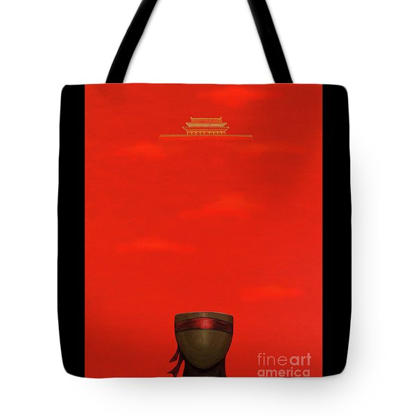 Red Impression Tote Bag