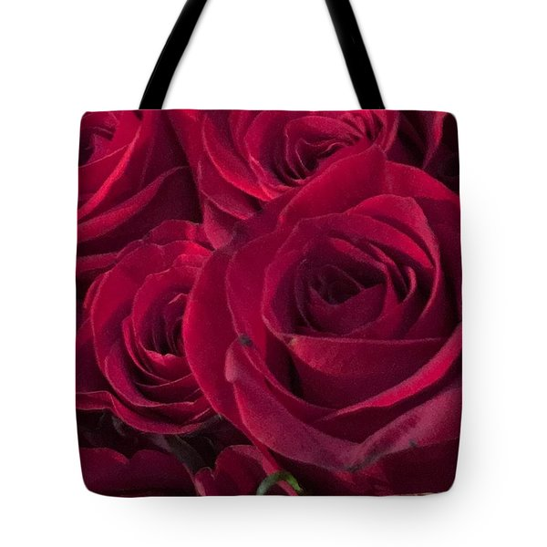 Tote Bag featuring the photograph Red Red Roses by Kay Gilley