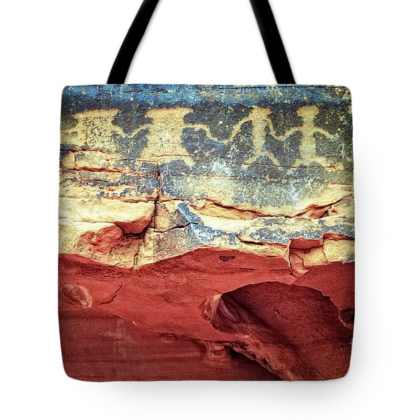 Red Rock Canyon Petroglyphs Tote Bag