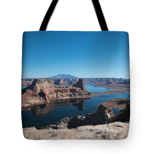 Red Rocks Drifting In Lake Powell Tote Bag
