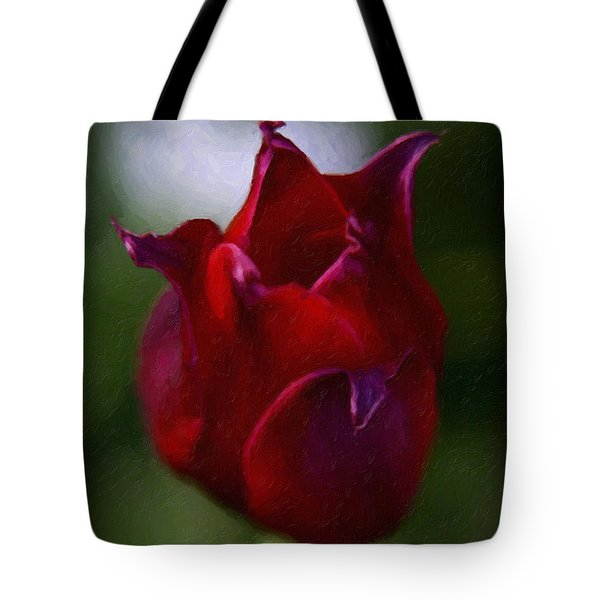 Red Rose Tote Bag by Andre Faubert