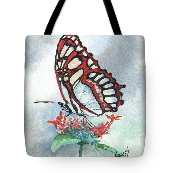 Tote Bag featuring the painting Red by Sam Sidders