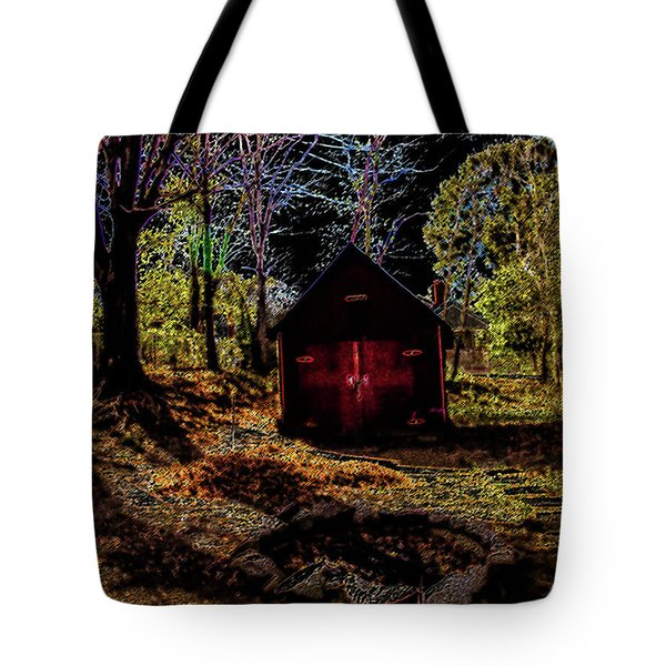 Tote Bag featuring the photograph Red Shed by Randy Sylvia
