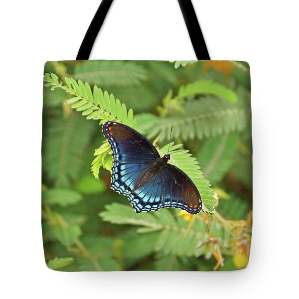 Tote Bag featuring the photograph Red Spotted Purple Butterfly by Sandy Keeton