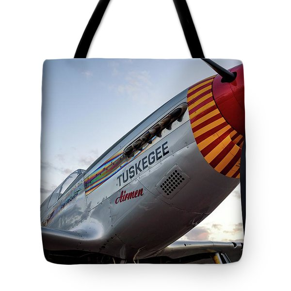 Red Tail At Dusk - 2017 Christopher Buff, Www.aviationbuff.com Tote Bag