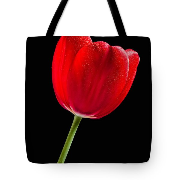 Tote Bag featuring the photograph Red Tulip No. 1  - By Flower Photographer David Perry Lawrence by David Perry Lawrence
