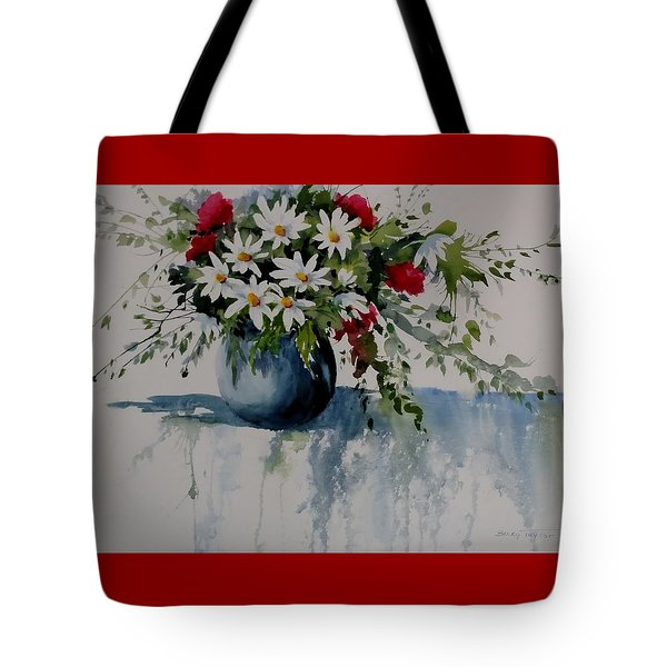 Red White And Blue Bouquet Tote Bag