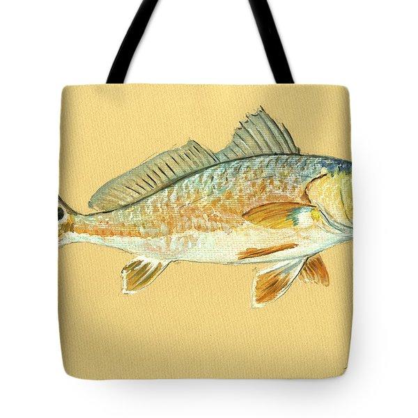 Redfish Painting Tote Bag